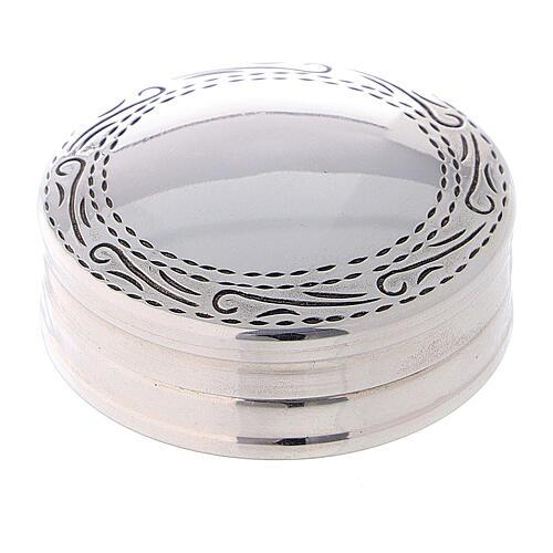 Portarosario in argento 925 tondo incisioni 1