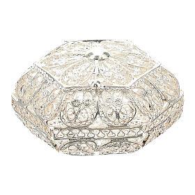 Caja para rosario hexagonal filigrana plata 800 s1