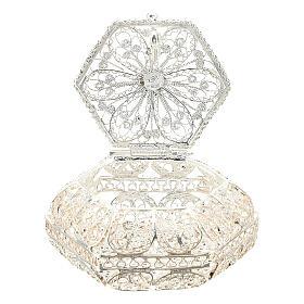 Caja para rosario hexagonal filigrana plata 800 s3