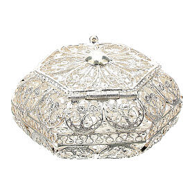 Caja para rosario hexagonal filigrana plata 800 s4