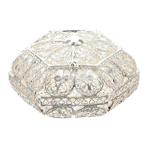 Caja para rosario hexagonal filigrana plata 800 1