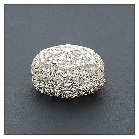 Portarosario esagonale filigrana argento 800 s2