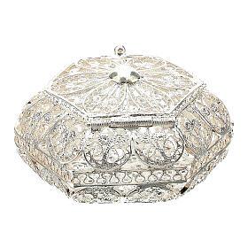 Portarosario esagonale filigrana argento 800 s4