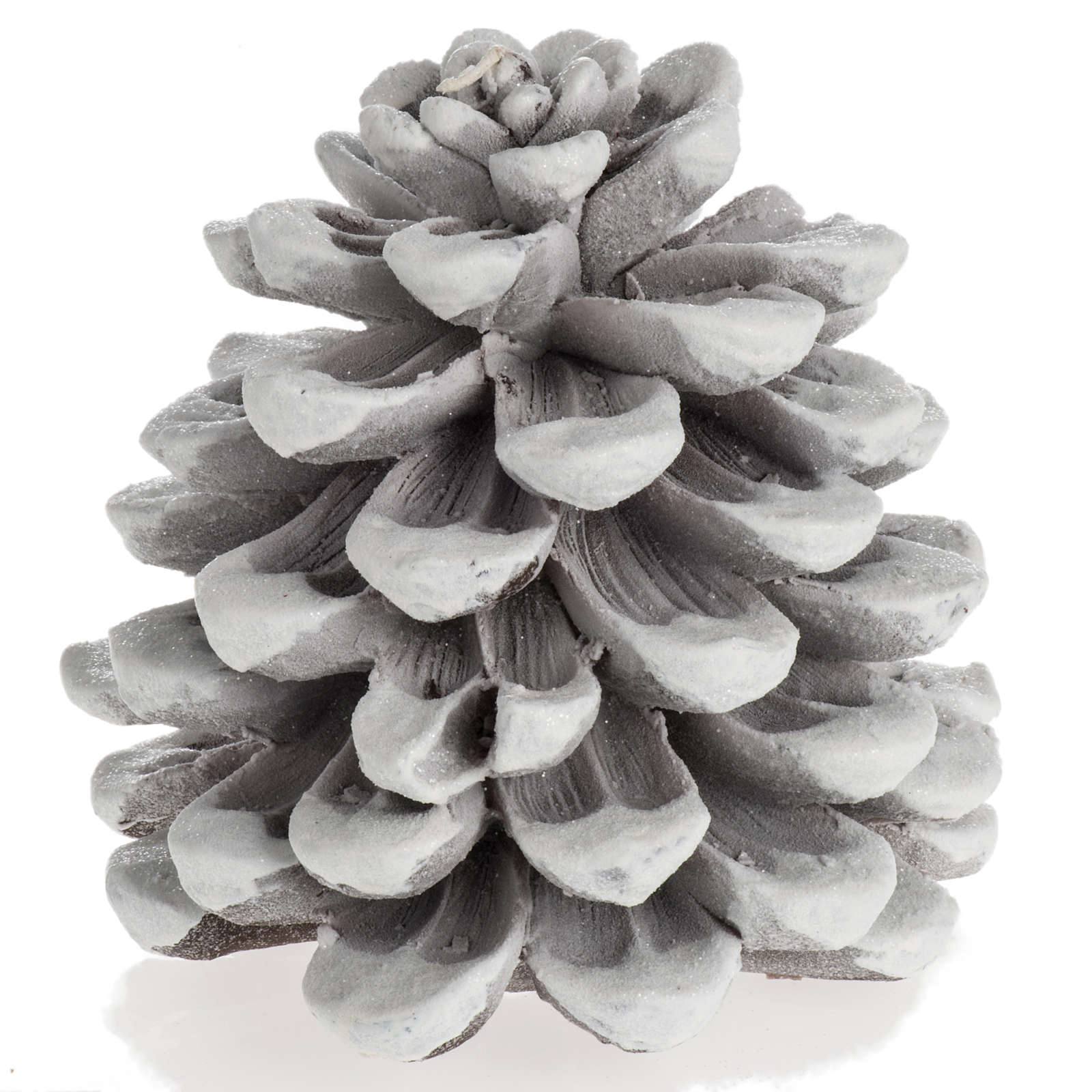 Candela navideña piña blanca 3