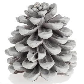 Candela natalizia pigna bianca s1
