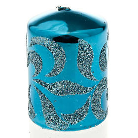 Christmas decoration candle turquoise s1