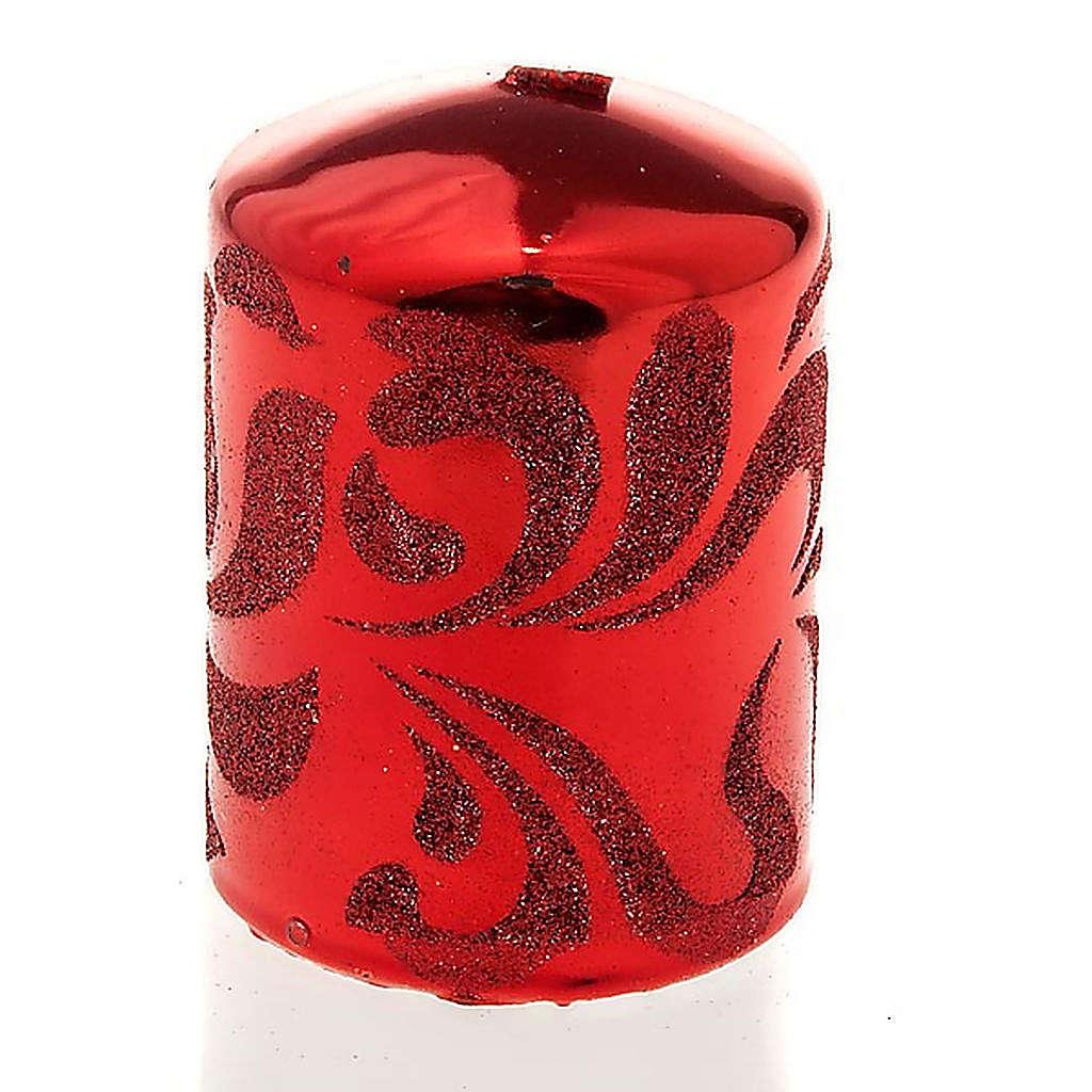 Candela di Natale rosso 3
