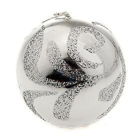 Candela di Natale sfera argento s1