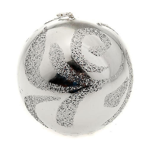 Candela di Natale sfera argento 1