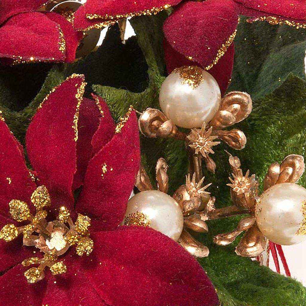 Girocandela con stella di Natale e bacche addobbo Natale 3