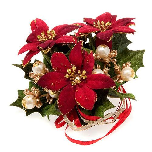 Girocandela con stella di Natale e bacche addobbo Natale 1