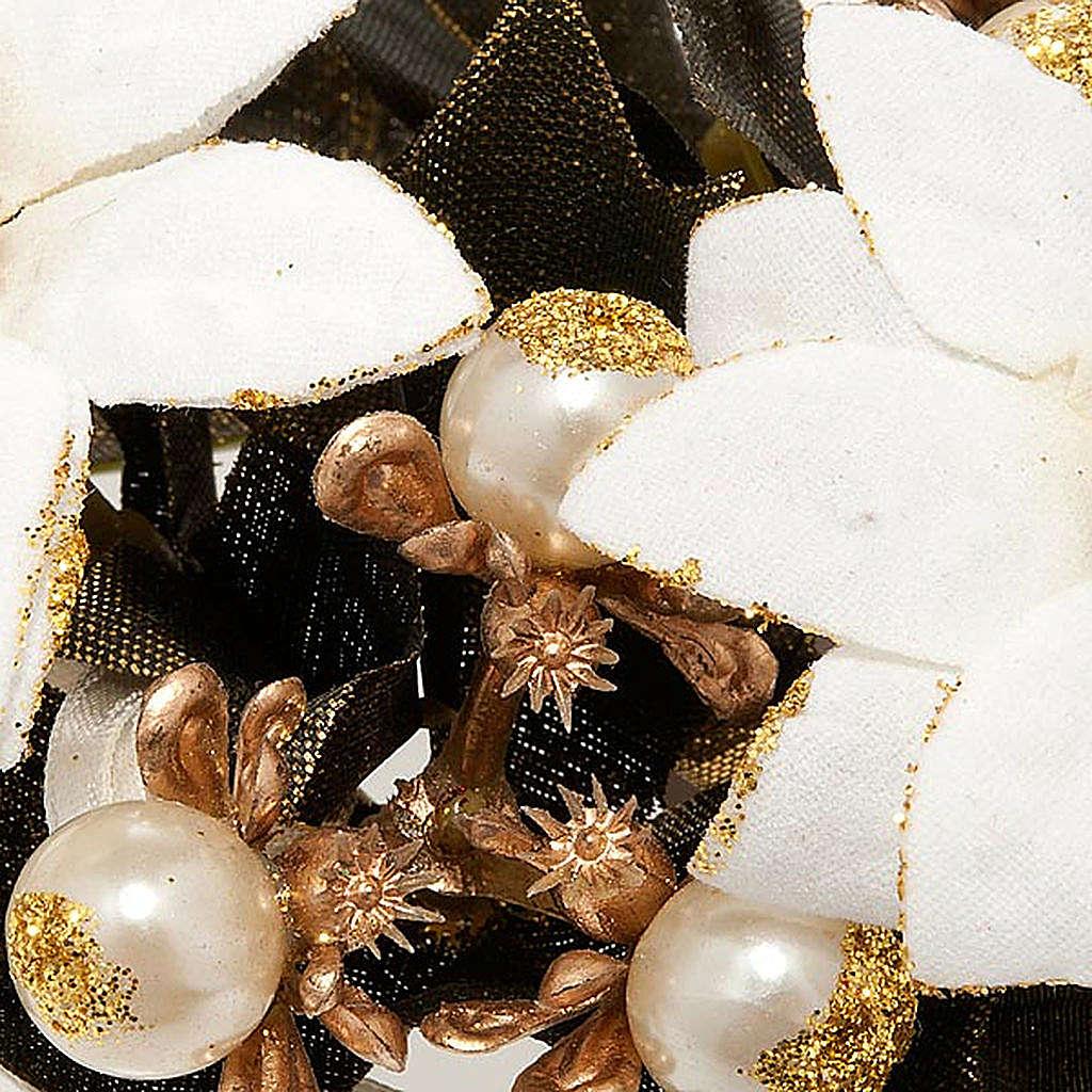 Girocandela Stella di Natale bianca addobbo natalizio 3