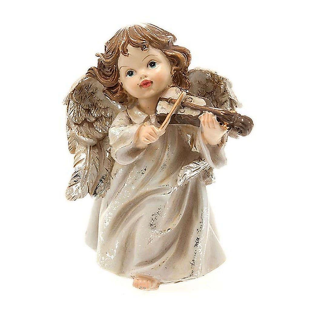 Angioletto musicista con violino decoro di Natale 3