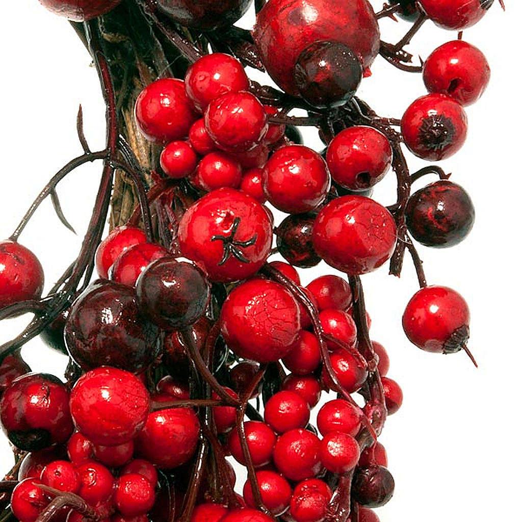 Ghirlanda di Natale rami e bacche rosse 3