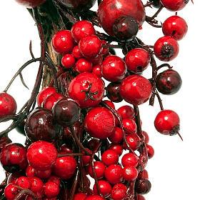 Ghirlanda di Natale rami e bacche rosse s3