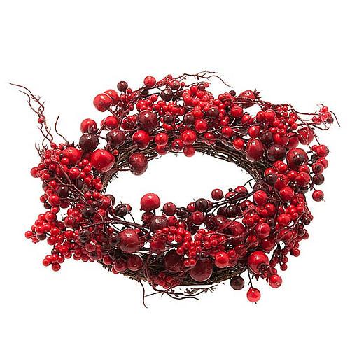 Ghirlanda di Natale rami e bacche rosse 1