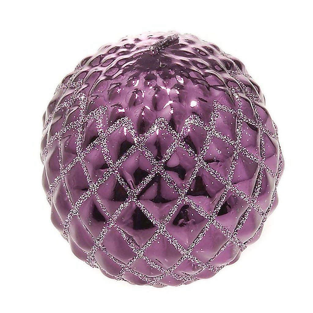 Vela Navidad esfera morada 3
