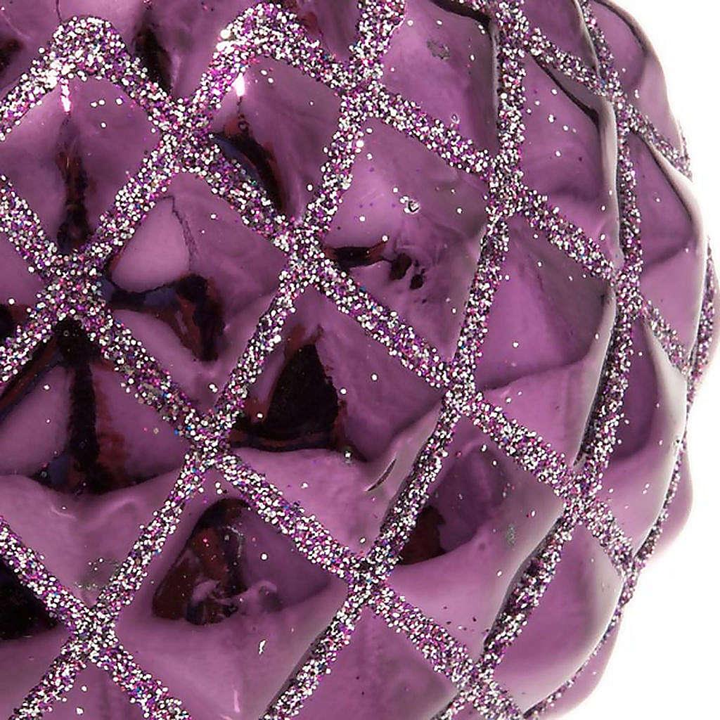 Christmas decoration, purple bauble 3