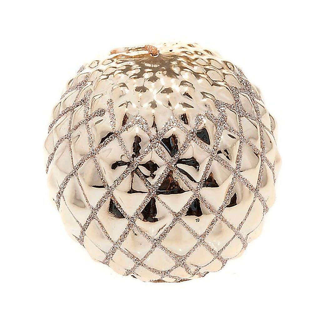 Candela oro di Natale a sfera 3