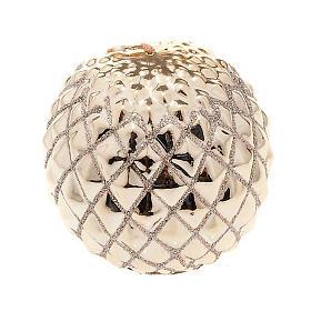 Candela oro di Natale a sfera s1