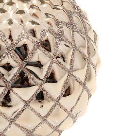 Candela oro di Natale a sfera s2