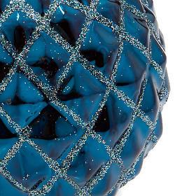 Candela turchese di Natale a sfera s2