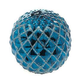 Velas de Natal: Vela turquesa de Natal esfera