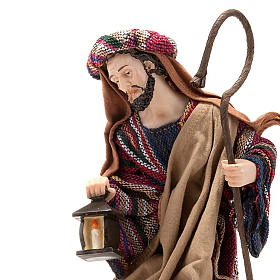 Nativity set coloured mantle, resin 33cm s2