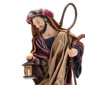 Nativity set coloured mantle, resin 33cm s2