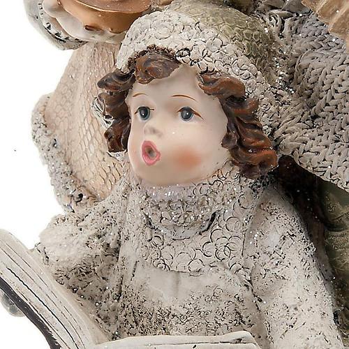 Statuetta trio bambini cantori addobbi natalizi 2