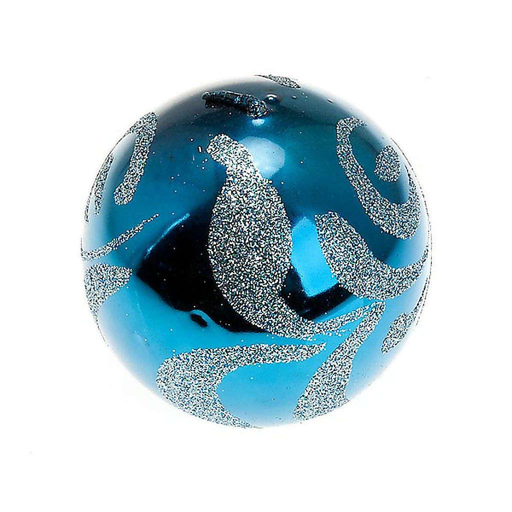 Candela di Natale sfera turchese 3