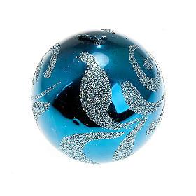Candela di Natale sfera turchese s1