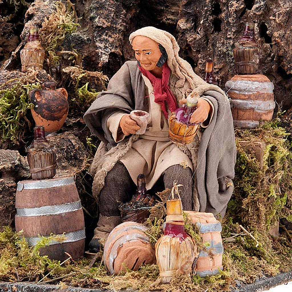 Animated nativity scene, cooper figurine set 12 cm 4