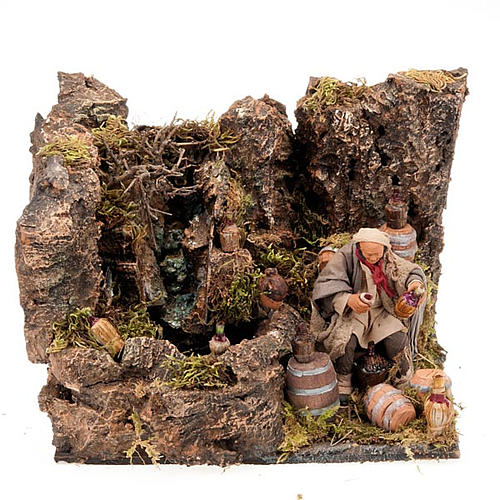 Animated nativity scene, cooper figurine set 12 cm 1
