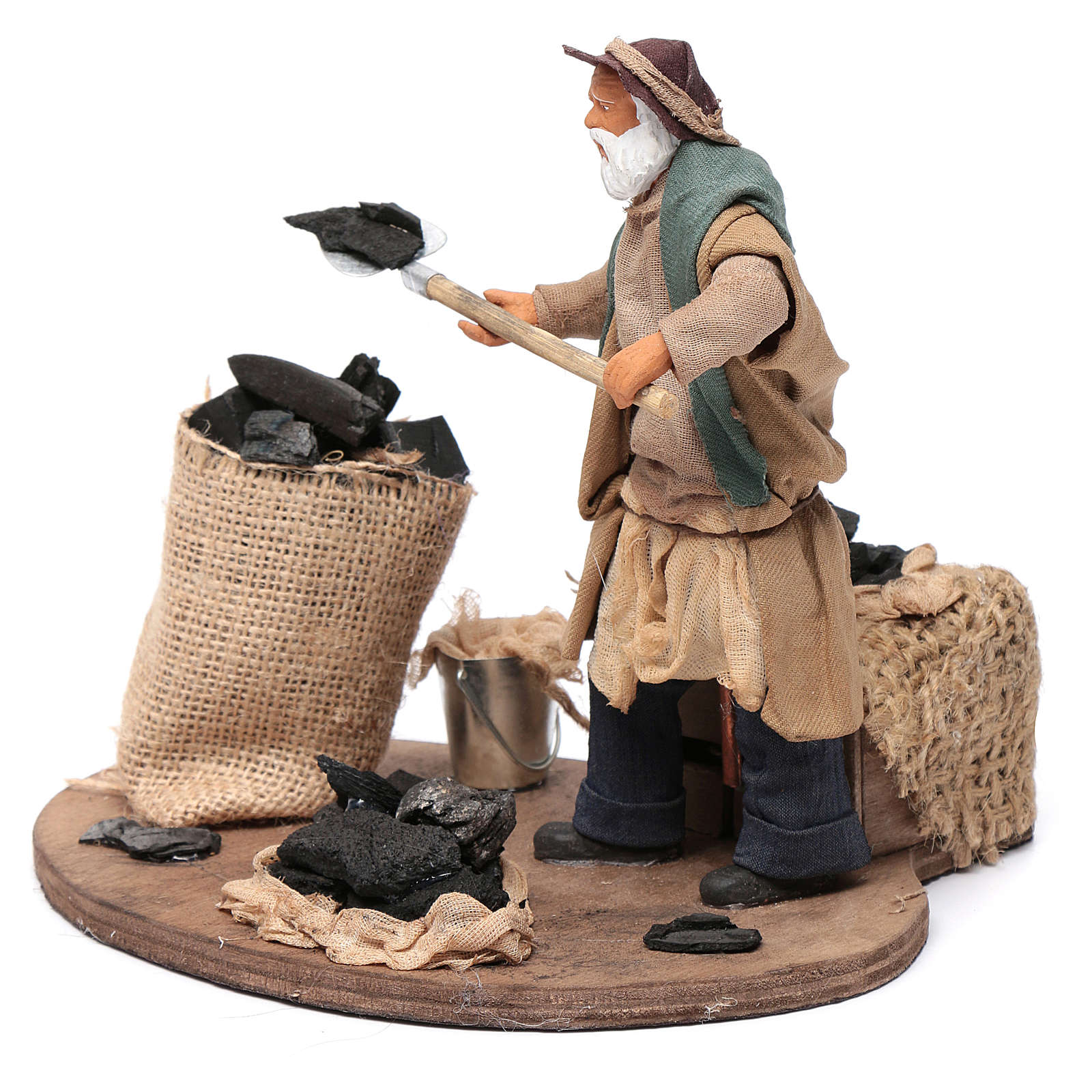 Animated nativity scene figurine, coalman 14cm 4