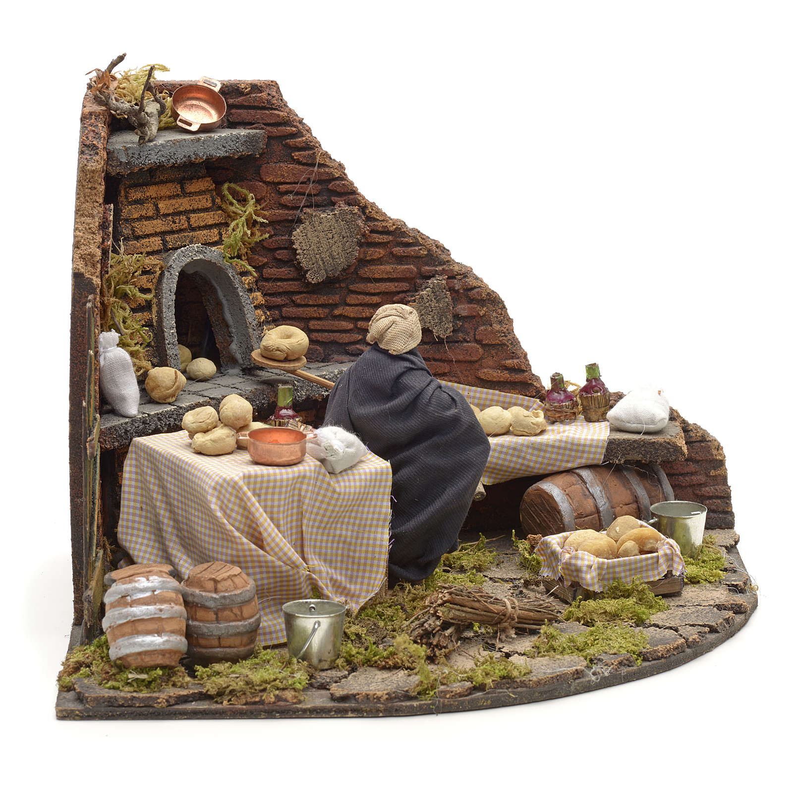 Boulanger  en mouvement pour crèche 10 cm 4