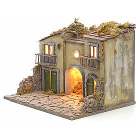 Nativity scene set small village with manger s3