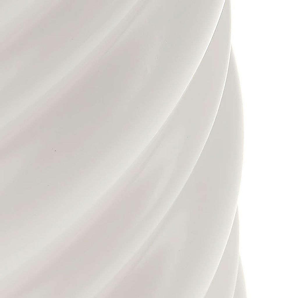 Candela natalizia torciglioni bianca diam. 7 cm 3