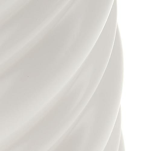 Candela natalizia torciglioni bianca diam. 7 cm 2