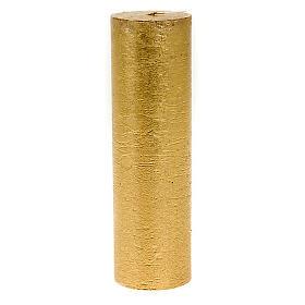 Candela natalizia colonna dorata diam. 5,5 cm s1