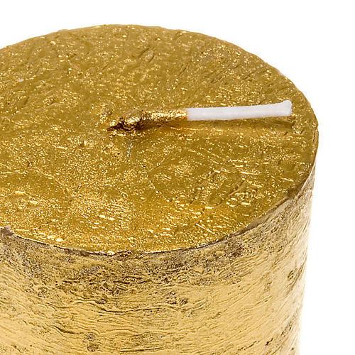 Candela natalizia colonna dorata diam. 5,5 cm 2