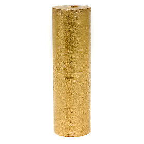 Christmas gold candle, cylindrical 5.5cm s1