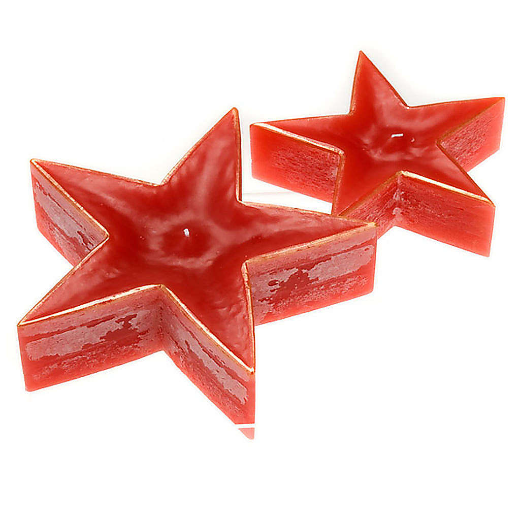 Vela Navidad estrella roja 3