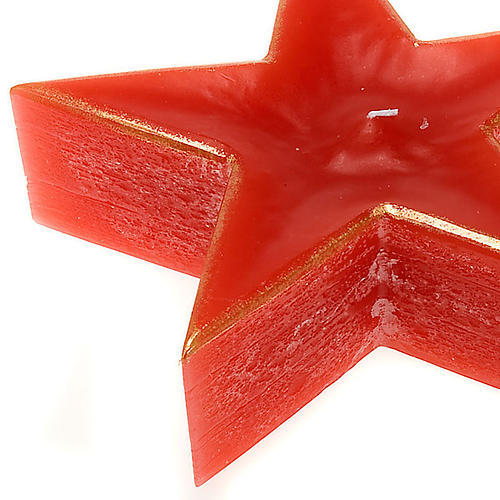 Vela Navidad estrella roja 2