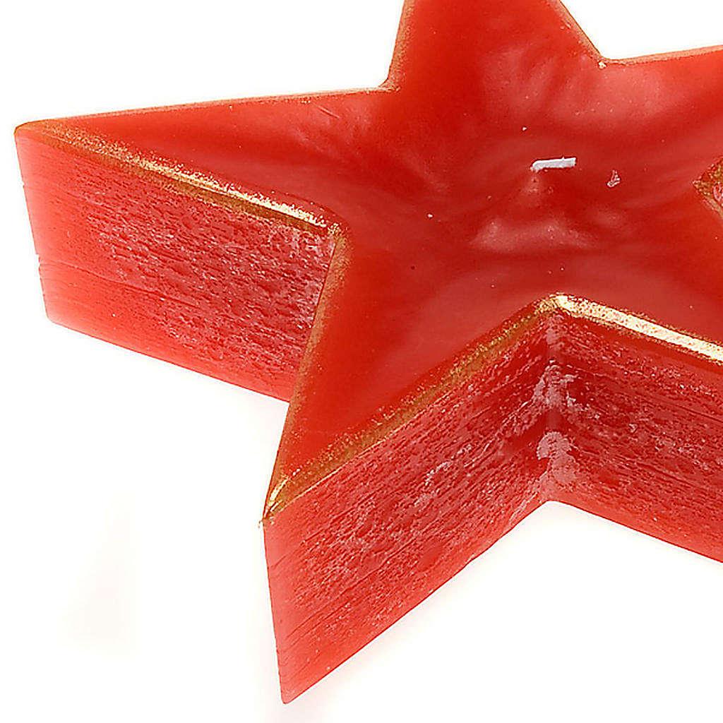 Candela natalizia stella rossa 3