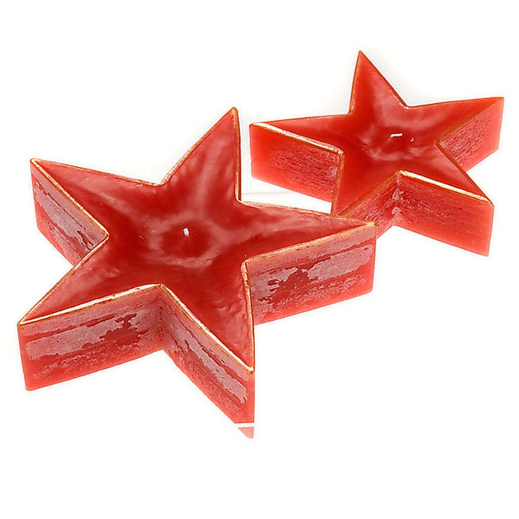 Vela de Natal estrela vermelha 3