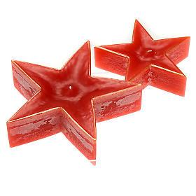 Velas de Natal: Vela de Natal estrela vermelha
