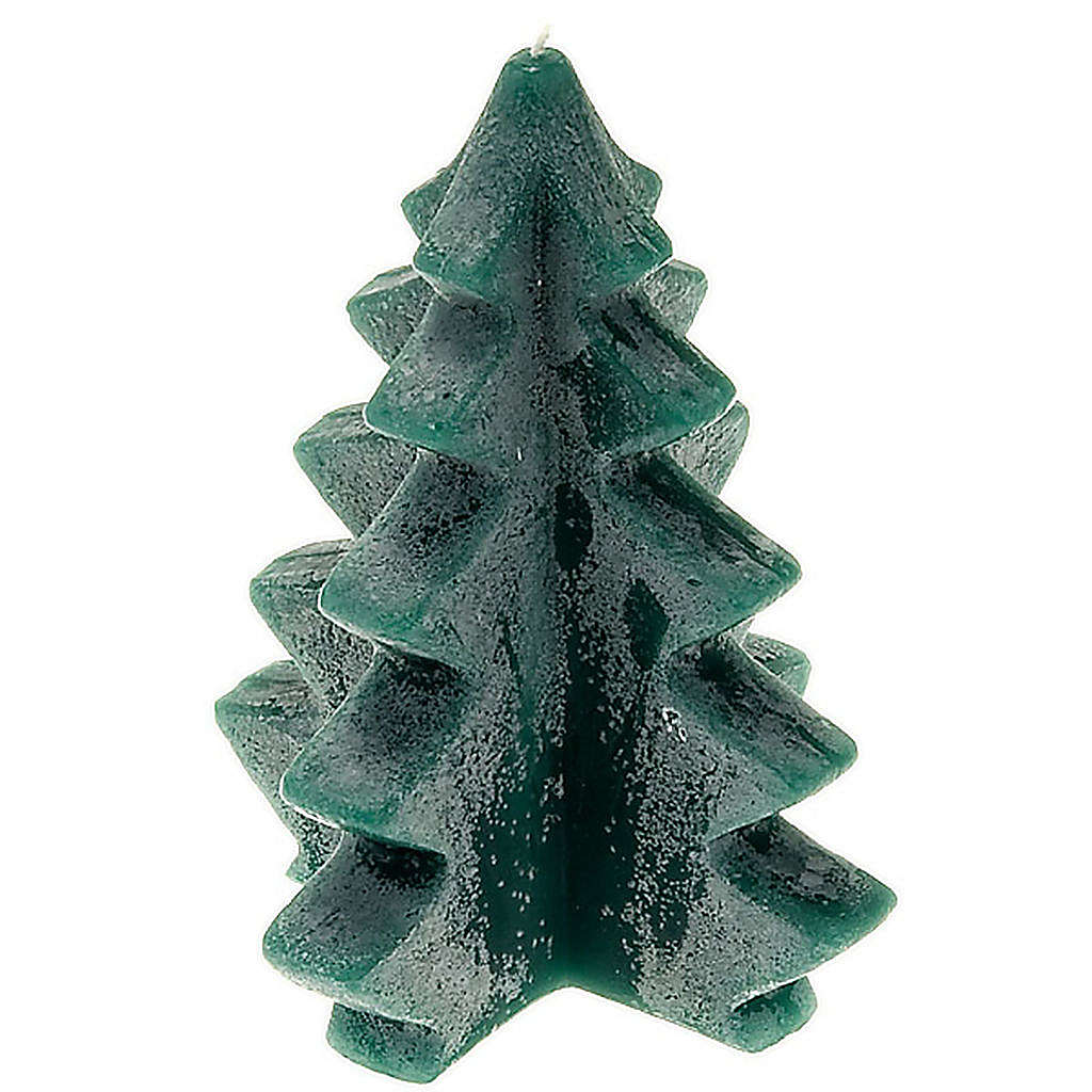 Christmas candle, green pine 3
