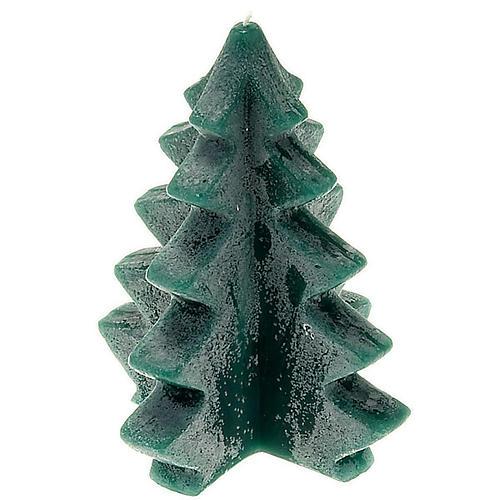 Christmas candle, green pine 1