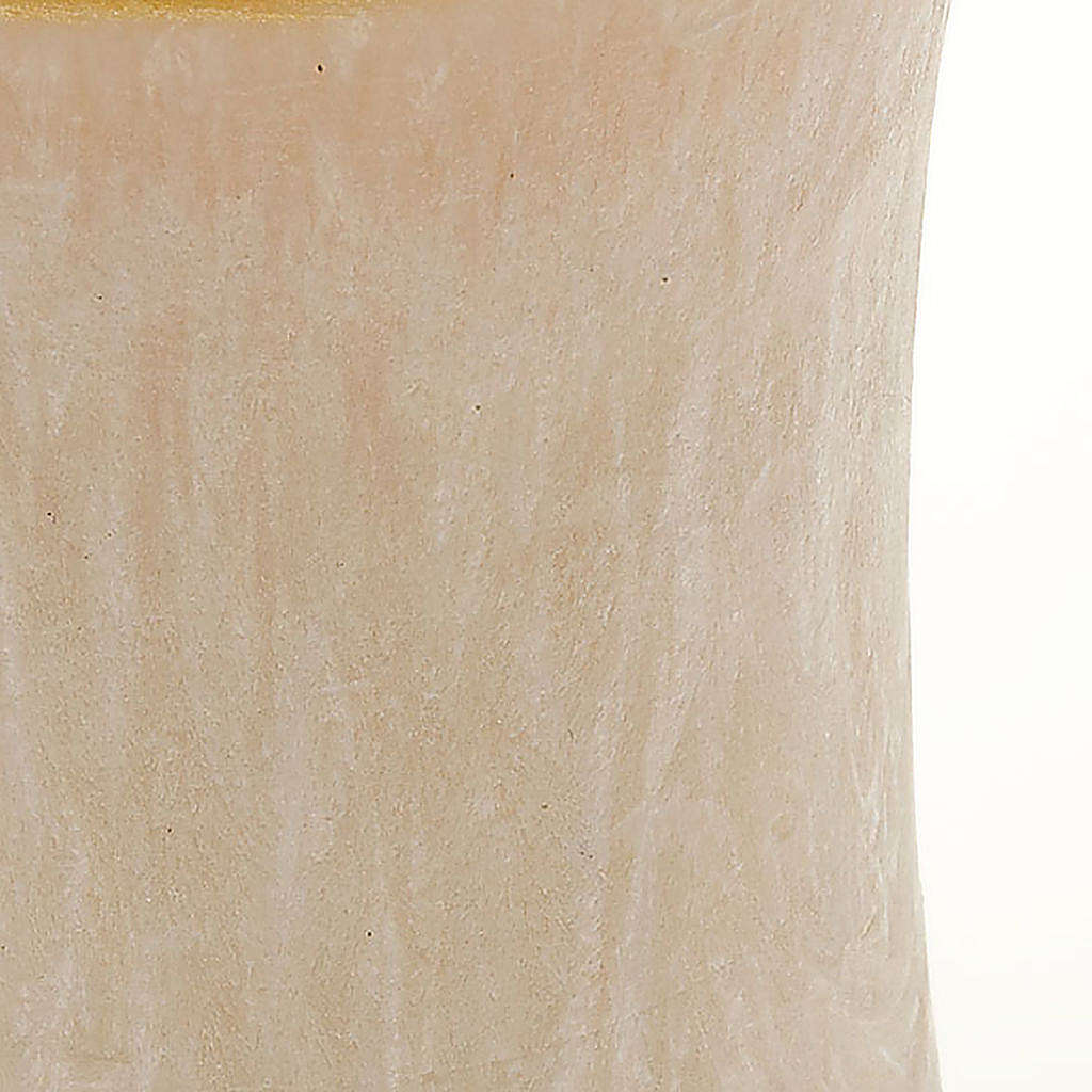 Vela cilíndrica cor de marfim borda ouro diâm. 7 cm 3